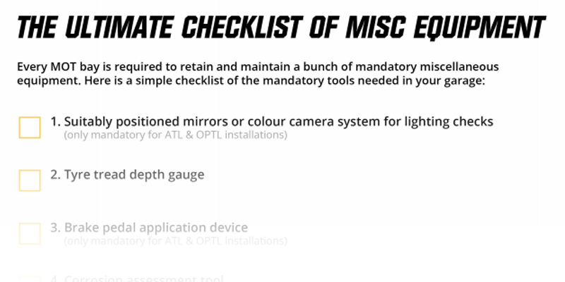 the ultimate checklist of misc equipment