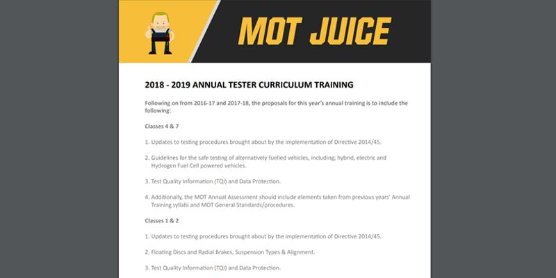 2018/19 Tester Training Curriculum
