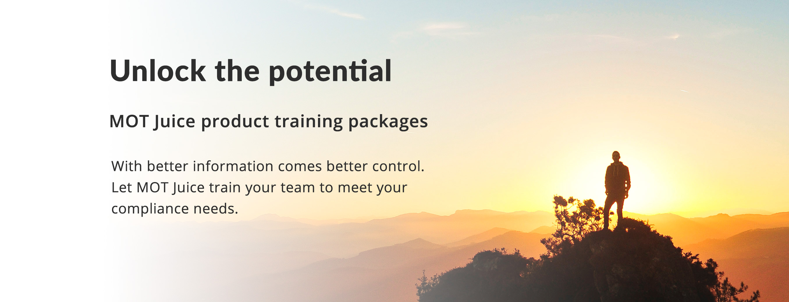 tailor-made training packages for your staff designed to get you up and running as quickly as possible