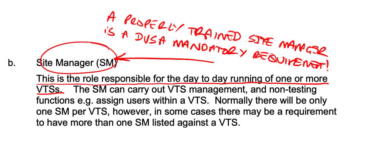 MOT JUICE - Site Manager Mandatory Role DVSA VTS