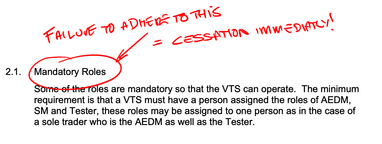 MOT Juice - DVSA Mandatory Roles - VTS - MOT Testing Stations